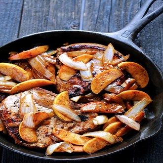 Apple Cinnamon Pork Chops