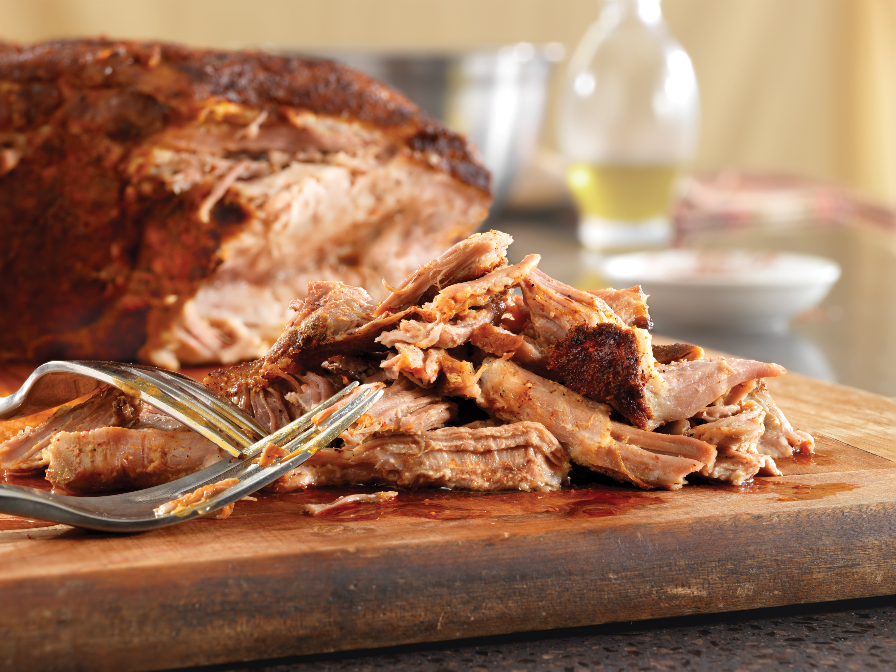 Chili Rubbed Slow Cooker Pulled Pork