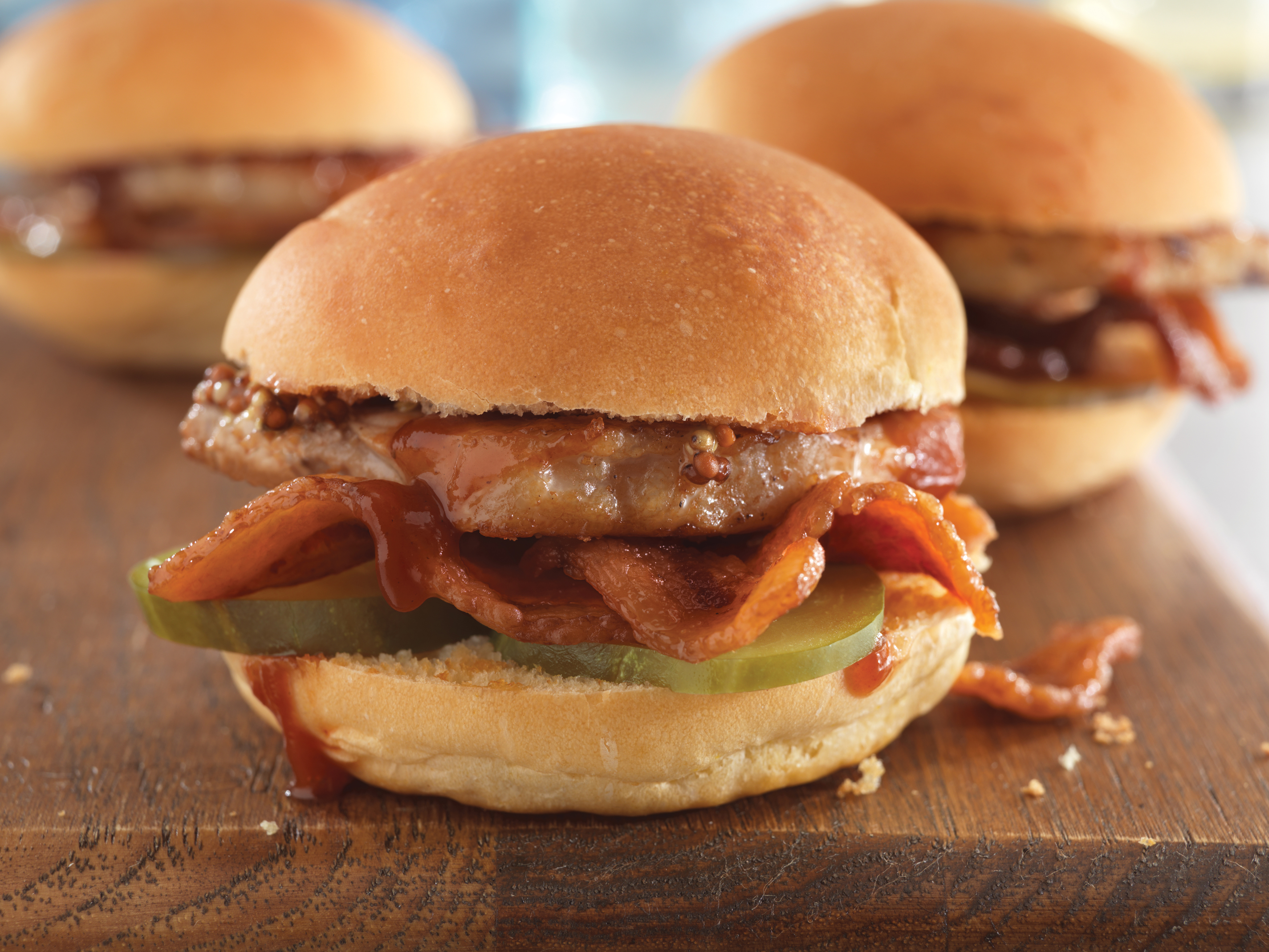 Double Pork Party Sliders