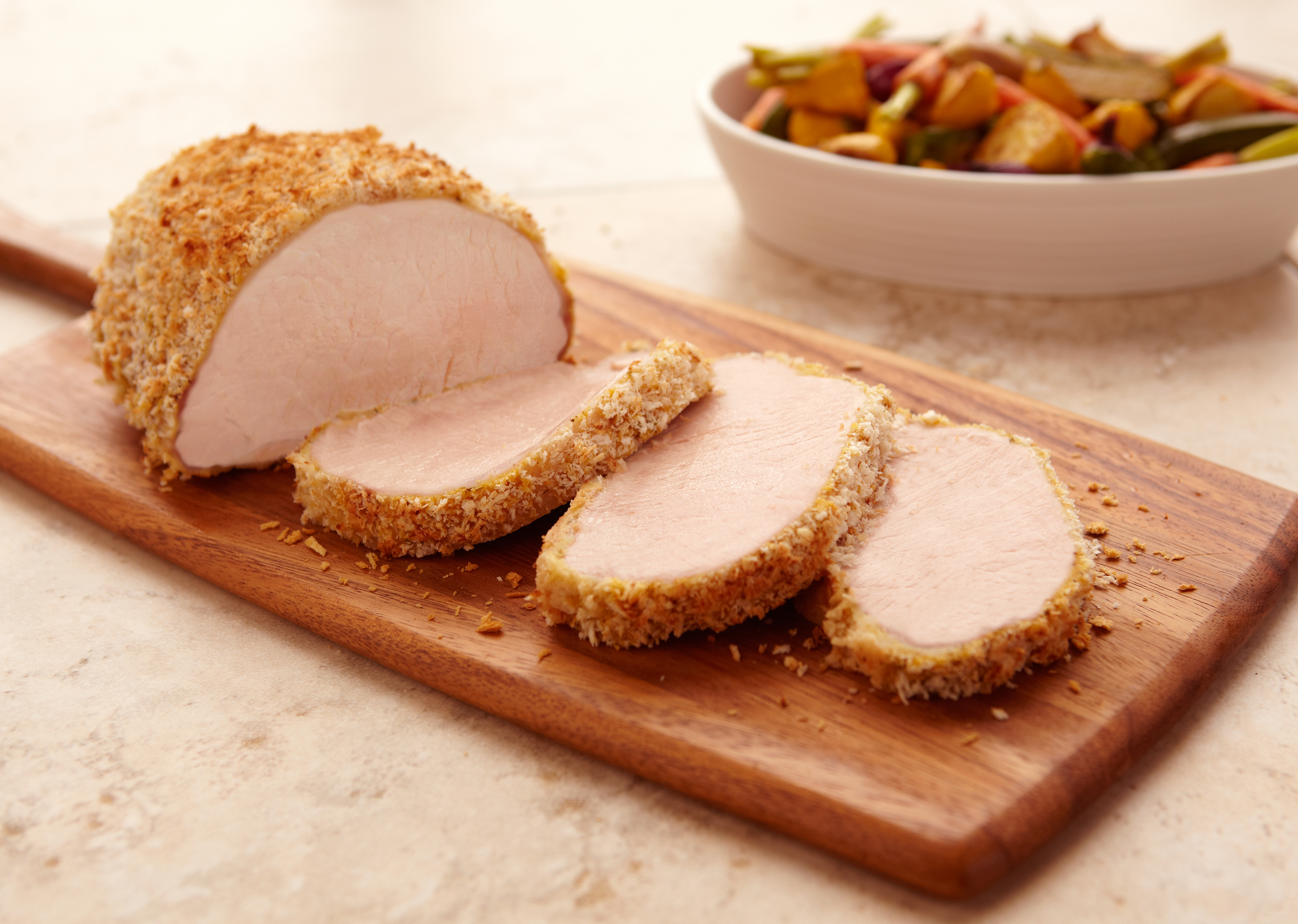 Mustard-Herb Crusted Pork Loin Roast