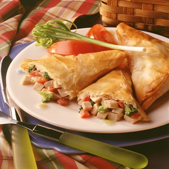 Pork and Broccoli Phyllo