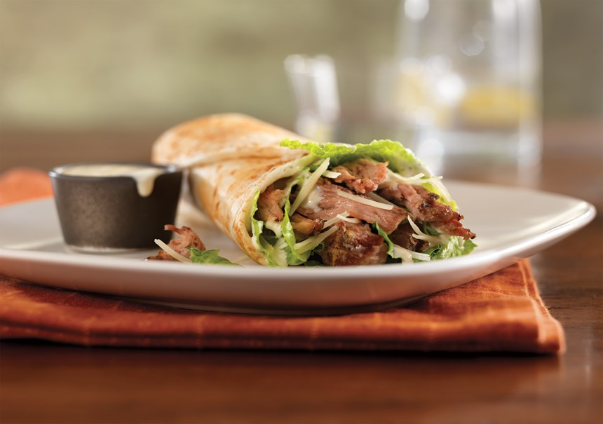 Pulled Pork Caesar Wrap