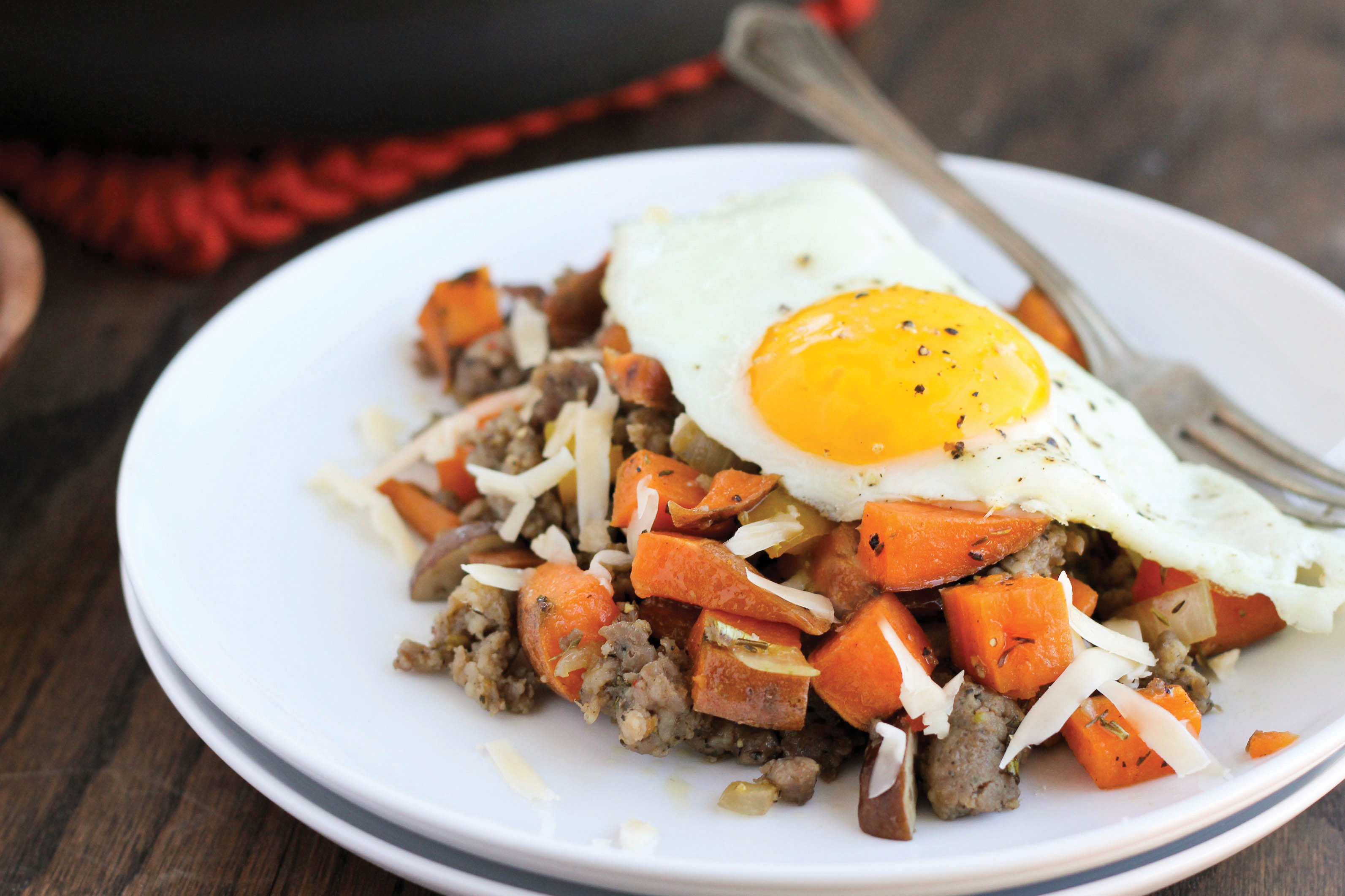 Sweet Potato & Maple Sausage Skillet