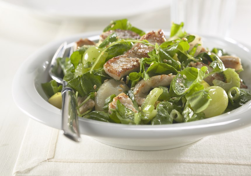 Warm Pork and Spinach Salad - Recipe Detail
