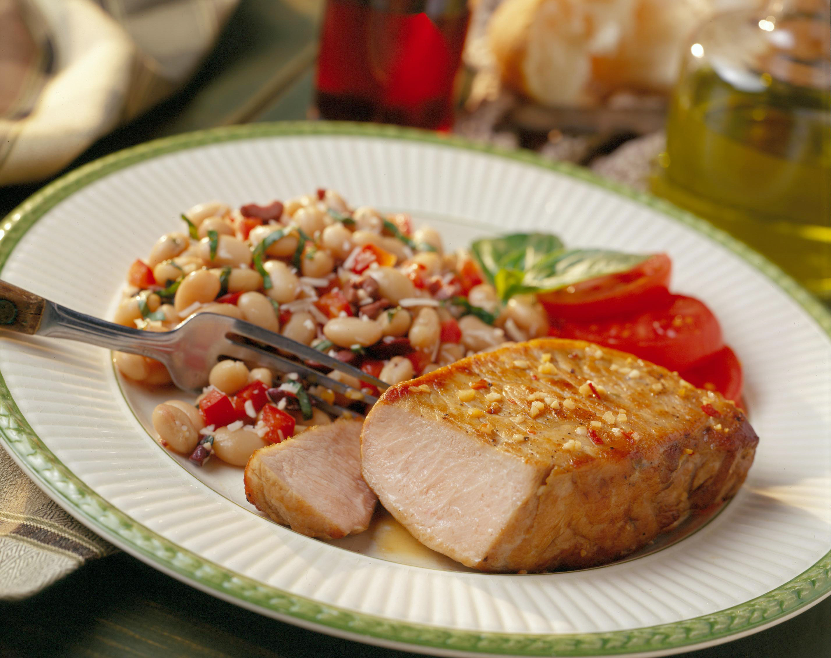 Zesty Italian Pork Chops with Cannellini Salad