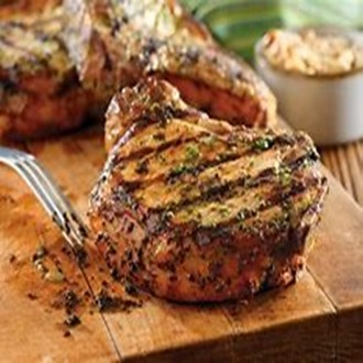 Grilled Pork Chops with Basil-Garlic Rub (1)