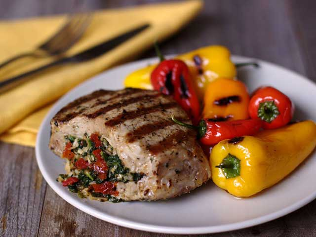 Italian-Inspired Stuffed Pork Chops