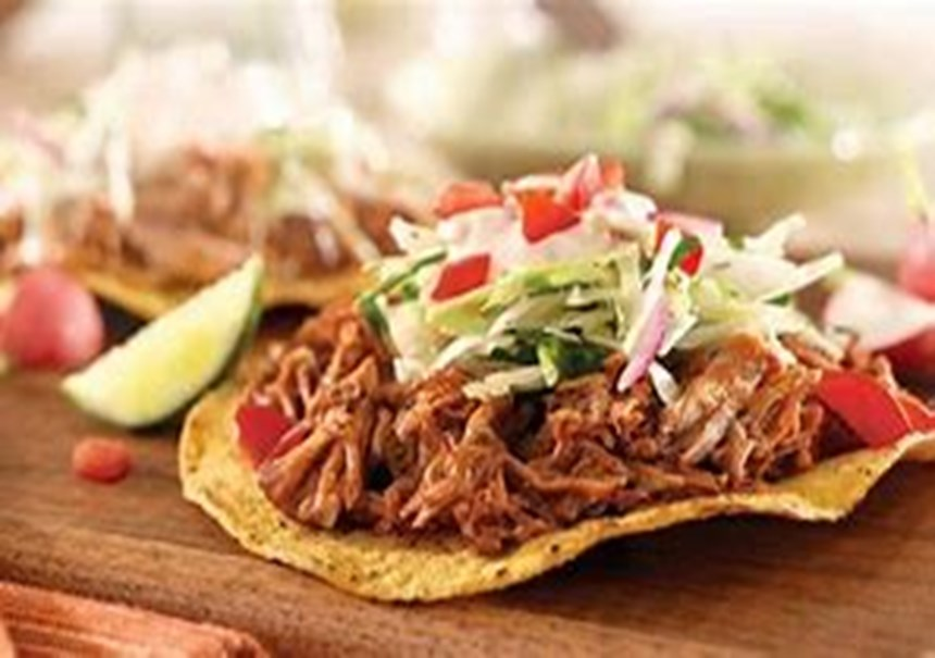 If you like, you can use regular tortillas, warmed up, instead of the crisped ones, to make soft tacos instead of tostadas. Experiment with the slaw to make it your own – try adding shredded zucchini, thinly sliced bell pepper, or diced cucumber.
